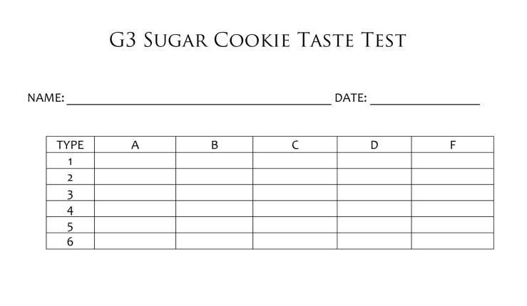 taste test form